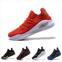 meisterschaft schuhe Rabatt Promotion Stephen Curry 4 Low Cut Herren Basketballschuhe Curry 4 Gold / Meisterschaft MVP Finale Sport Runnning Training Sneakers mit Box