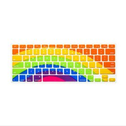 "Wholesale 17 Laptop Skin - 2016 Sunflower Rainbow Colors Keyboard US Cover Silicone Skin For MacBook AIR Pro 13"" 15"" 17"" Retina for iMac & MacBook Air 13"""