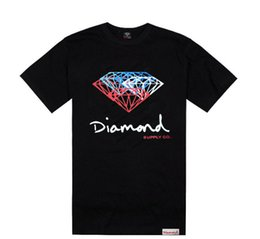 Wholesale Skating Clothes - New Summer Cotton Mens T Shirts Fashion Short-sleeve Printed Diamond Supply Co Male Tops Tees Skate Brand Hip Hop loose Clothes
