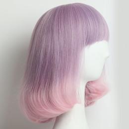 Синтетические парики волос с челкой для женщин Ombre парик волнистые женские синтетические волосы партии косплей парики и крышка жаропрочных волос от Поставщики женские части тела