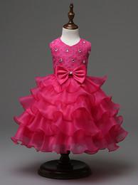 Vestido de volantes de encaje rebordear en las niñas Flores de las niñas de color rosa púrpura Vestido de novia azul marino de las muchachas reales de la boda azul Vestido de Año Nuevo de la princesa desde fabricantes