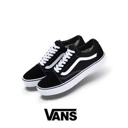 Wholesale pink lace up flats - 2018 New Athentic Vans Classic Old Skool Canvas Mens Skateboard Designer Sports Running Shoes for Men Sneakers Women Casual Trainers