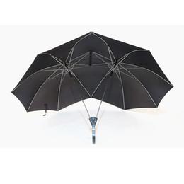 2019 guarda-chuvas de chuva Novo Design À Prova de Vento de Duas Pessoas Guarda-chuva Grande Casais Guarda-chuva Dois Cabeça Dupla Tamanho Presente Da Proteção Da Chuva para Os Amantes ZA5557