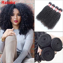 Wholesale jerry curls - Rabake Peruvian Curly Human Hair Weaves 100% Virgin Unprocessed 8A Brazilian Malaysian Indian Peruvian Jerry Kinky Curls Hair Extensions
