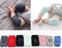 Wholesale baby knee crawling socks - Baby Socks Soft Kids Anti-slip Elbow Cushion Crawling Knee Pad Infant Toddler Baby Safe Baby Leggings 8 colors 12 paris