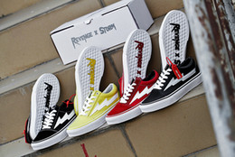Wholesale Fashion Best - New Right Revenge x Storm Old Skool Black Red Yellow Casual Shoes Kendall Jenner best Footwear Ian Connor Fashion Current Training Sneakers