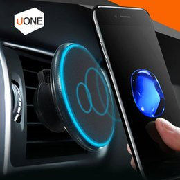 Wholesale Galaxy Car Mount - Magnetic Qi Wireless Car Charger Charging Air Vent Mount Holder 360°rotating adjustment 5V 2A for iPhone 8 X Samsung Galaxy S8 with package