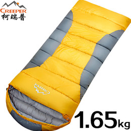 Wholesale Creeper Bags - CREEPER Outdoor Sleeping Bags Full Cotton Stitching Thick Warm Winter Sleeping Bags 3 Colors Lazy Camping Travel Break Time