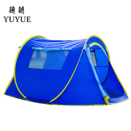 Wholesale big tents camping - Three Season Tourist Pop Up Tent Big Space Waterproof Ultralight Camping Tent Customized One Bedroom Outdoor Hiking