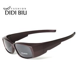 e0d98cd265c7d DIDI Miopia Polarizada Tampa Óculos de Sol Das Mulheres Retro Retângulo Fit  Sobre Óculos de Sol Dos Homens Marca Clip On Eyewear Gafas U548 D18101302
