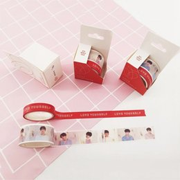 K-POP BTS Washi Tape Novo Ablum LOVE YOURSELF Papel Maksing Tape DIY Scrapbook Adesivos 2016 de