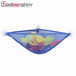 Wholesale Kids Bath Toy Holder - BalleenShiny Bathroom Suction Cup Net Bag Bath Baby Kid Storage Organizer Mesh Storage Bag Shower Toy Holder