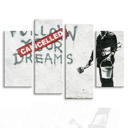 pintura dormitorio principal Rebajas Pintura caligrafía Ciudad graffiti maestro lienzo cartel arte de la pared sala de estar restaurante Dormitorio pinturas decorativas PL4-005