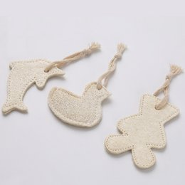 Wholesale Toy Sponge Balls - Cute Fish Bird Bear Shaped Natural Loofah Sponge Cat Biting Chewing Toy Dog Tooth Grinding Toy