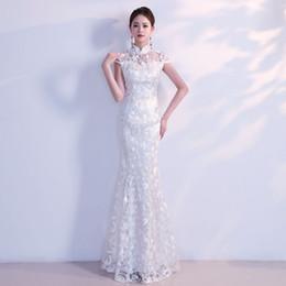 5f05d052bf21 2019 abito da sposa bianco cinese HYG9071 Nuovo vestito da cerimonia  nuziale del vestito da cerimonia