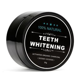 Wholesale Wholesale Tea Powder - 100% Natural Organic Activated Charcoal Natural Teeth Whitening Powder Remove Smoke Tea Coffee Yellow Stains Bad Breath Oral Care 30g bottle