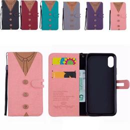 housses d'iphone pour femmes Promotion Portefeuille en cuir pour femmes pour Iphone XR XS MAX X 10 8 7 6 6S Plus SE 5 5S T-shirt Flip Cover Tissu De Luxe Coque Bowknot Sangle