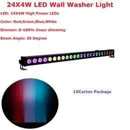 Wholesale Dmx Led Rgb Wall Washer - Wholesale- High Quality 24X4W Indoor Led Wall Washer Lights RGBW Led Bar Light DMX Mode,Led Stage Light Non-Waterproof IP20 110-240V
