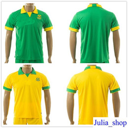 Wholesale National Africa - South Africa National Team Soccer Jerseys Customized Personalized Any Name and Number Home Away Custom Football Shirts Kits Uniforms