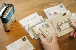 Wholesale Vintage Letter Paper Envelopes - Wholesale- 60pcs   lot 12 Designs Paper Envelope European Vintage Style Office School Supply Mini Paper Envelope Gift Letter Pad CN-1002