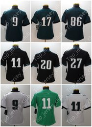 Wholesale American Football Woman - 2018 New American Football Jersey With Name Bowl Patch Tag Women Girl Lady 9 11 17 20 36 56 86 91 Green Rush Black White Limited Stitched