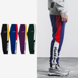 Wholesale Vintage Sweatpants - SNAP & STRAP New Justin Bieber FOG style Autumn Mens Sweatswear jogger Pants Printing Side Stripe Pockets Men Vintage Sweatpants
