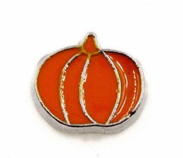 Wholesale Pumpkin Food - Wholesale 20PCS lot Pumpkin Alloy DIY Floating Locket Charms Fit For Glass Living Magnetic Locket Jewelrys
