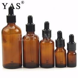 Wholesale Eye Drop Bottle Ml - 5 10 30 50 100 ML Amber Glass Liquid Reagent Pipette Bottle Eye Dropper Drop Aromatherapy