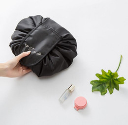 Wholesale magic letters - Lazy Cosmetic Bag Drawstring Makeup Bag Capacity Portable Drawstring Storage Magic Travel Pouch Storage Bag 47*47cm OOA4337