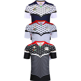 Wholesale Wine Transfer - Top quality Rugby Union Palestine black color rugby jersey high-temperature heat transfer printing jersey Rugby Shirts football jersey