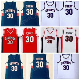 Uniformes de basquete barato on-line-Homens High School Stephen Stephen Curry 30 Charlotte Knights Jersey Davidson Wildcats Curry College Jerseys Esporte Basquete Uniforme Costurado Barato