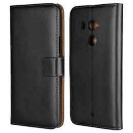 Wholesale universal phone book - Genuine Leather Wallet Case For HTC U11 , U11 Plus , U11 Lite Real ID Credit Card Slot Book Holster Holder Flip Covers Coque Phone Pouch