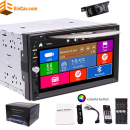 Wholesale Mp3 Video Music - Rear Camera included! Autoradio 2 Din in Dash Headunit MP3 Music Car Stereo Auto Radio Car DVD Player in Deck Double Din Electronics
