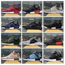 Wholesale burgundy yellow - 2018 NMD_XR1 PK Running Shoes Cheap Sneaker NMD XR1 Primeknit OG PK Men Women Running Shoes Sneakers Size 36-45