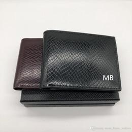 многофункциональная визитная карточка Скидка Кожаный кошелек для мужчин с длинным рукавом Короткая MT Multi-Functional MB Luxury Gift Bag Держатель кредитной карты Карманное фото M B Кошельки