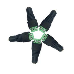 Neon jack on-line-Feminino DC Cabo De Alimentação Jack Adapter Conector Plug para 5050 2835 LED Strip Corda Neon CCTV Camera Use 12 V 24 V