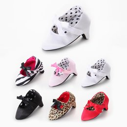 high soled shoes Promo Codes - Fashion New Sweet Lovey Newborn Baby Girls Princess Soft Soled Anti-Slip Infant Shoes Crib Babe Toddler Mary Jane Bow High Heels