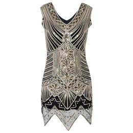 flapper vestidos gatsby Desconto Vestido Plus Size Vest Vestido Flapper Grande Gatsby Charleston Dama de Honra Art Deco Handmade Frisado Vestido Frete Grátis