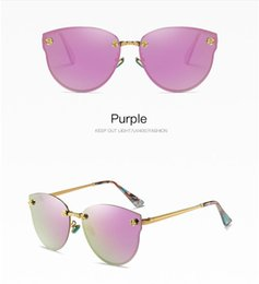 Wholesale butterfly french - 2018 French Hot sale Luxury brand designer women glasses vintage men sunglasses frame gold pink mirror lens with logo case box