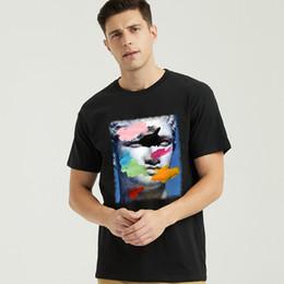 Pinturas 3d camisetas online-Prendas de vestir Ropa de algodón impresa 3D Camiseta de la personalidad del verano 2018 100% algodón O-cuello Camisetas Verano Stree Morty algodón