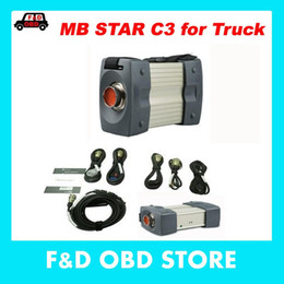 Wholesale Fast Hdd - Best Quality 12v 24v c3 for truck bus Full new Red MB Star C3 Trucks Diagnostic Tool Star Tester without HDD Fast DHL shippping