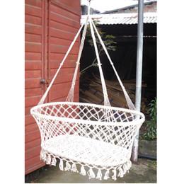 swing indoor per bambini Sconti Indoor garden wind baby culla per il tempo libero per il tempo libero baby hammock KIDS altalena letto sospeso per bambini Colore bianco