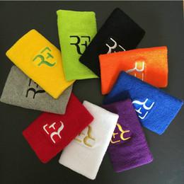 muñequera de voleibol Rebajas 1 unid RF 12.5 * 7.5 cm muñequeras de algodón deporte banda para la mano para gimnasio voleibol tenis sudor soporte para la muñeca corsé guardia