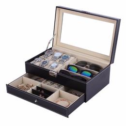 schmuck-display-boxen holz Rabatt OUTAD Schatulle Holz Uhrenbox Doppelschichten Wildleder innen Farbe außerhalb Schmuck Aufbewahrungsbox Uhren Display Slot Case Container Organizer