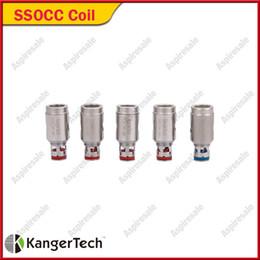 Kanger subox mini bobinas de substituição on-line-Kanger SSOCC Bobinas 0.5 / 1.2 / 1.5 / 0.2 Cabeça Da Bobina de Substituição para Subtanque Subox Topbox Mini Nano Nebox Subvod Kits