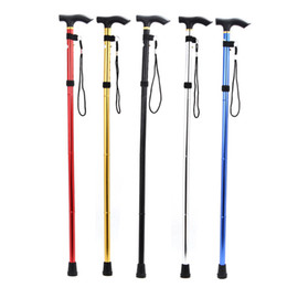 Wholesale Outdoor Walking Hiking Trekking Stick - Outdoor Folding Alpenstock Walking Trekking Stick Cane Foldable Hiking Crutch 4 Joints Adjustable Length Color Random