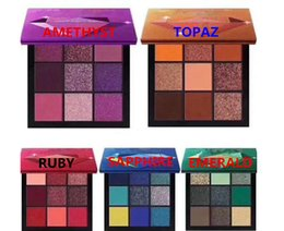 Maquillaje color tierra online-Derict de fábrica envío gratis Hot Newest Beauty Cosmetics Palette paletas de maquillaje 9 colores de sombreador de ojos 5 Style Earth pearl eyeshadow