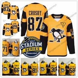 Özelleştirmek 2017 Stadyum Serisi Sarı Formalar # 87 Crosby Malkin Kessel Letang Murray Pittsburgh Penguenler Hokeyi Mens Womens Gençlik Çoc ... cheap pittsburgh penguin jerseys youth nereden pittsburgh penguen forma gençlik tedarikçiler