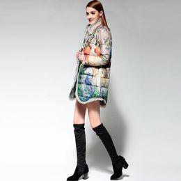 Wholesale Long Puffer Coats Women - Luxuy Women Jacket Ultra Down Elegant Light Winter Cloak Coat Vintage Womens Puffer Cape Long Duck Woman Long Coats and Jackets