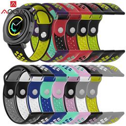 2019 reemplazar reloj AOOW Silicone 20mm para Samsung Gear Sport S2 Clásico Garmin vivoactive3 Huami Amazon BIP Reemplazar reloj pulsera Correa de banda rebajas reemplazar reloj
